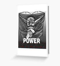 Baron Praxis: Power Greeting Card