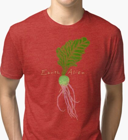 Earth Alien Watermelon Radish Tri-blend T-Shirt