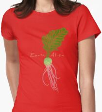 Earth Alien Watermelon Radish Women's Fitted T-Shirt