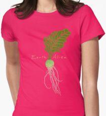 Earth Alien Watermelon Radish Women's Fitted T-Shirt