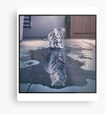 Cat wants to be a tiger ! Metal Print