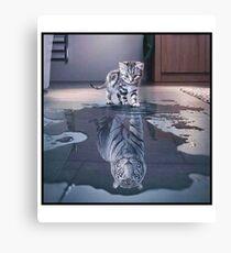 Katze möchte ein Tiger sein! Leinwanddruck