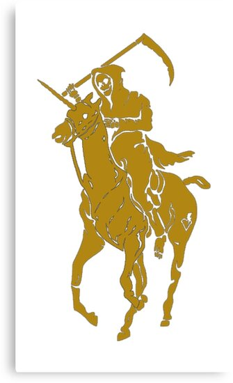 yellow grim reaper polo by gYBI