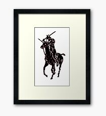 samurai polo Framed Print