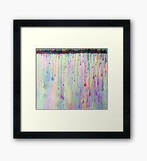 Rainbow Drops in vibrant ink Framed Print