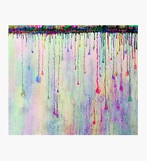 Rainbow Drops in vibrant ink Photographic Print