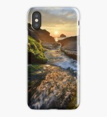 Cornwall: The River Rushing at Trebarwith Strand iPhone Case