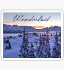 Wanderlust Sunrise Over The Mountains Sticker