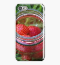 Glass Jar with Strawberries iPhone Case/Skin