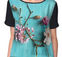 Flowers of Spring Chiffon Top