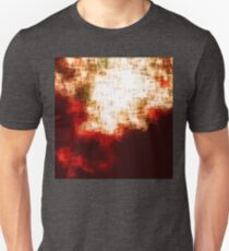 red, rose darkness in midwinter pixel abstration Unisex T-Shirt
