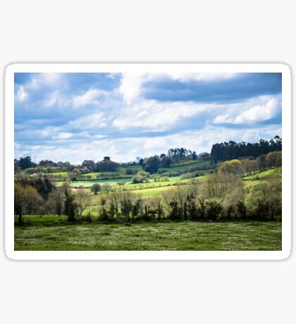 Rolling landscape in Galicia Sticker