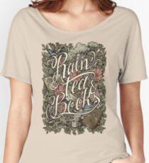 Rain, Tea & Books - Color version Women's Relaxed Fit T-Shirt