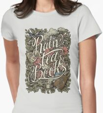 Rain, Tea & Books - Color version Womens Fitted T-Shirt