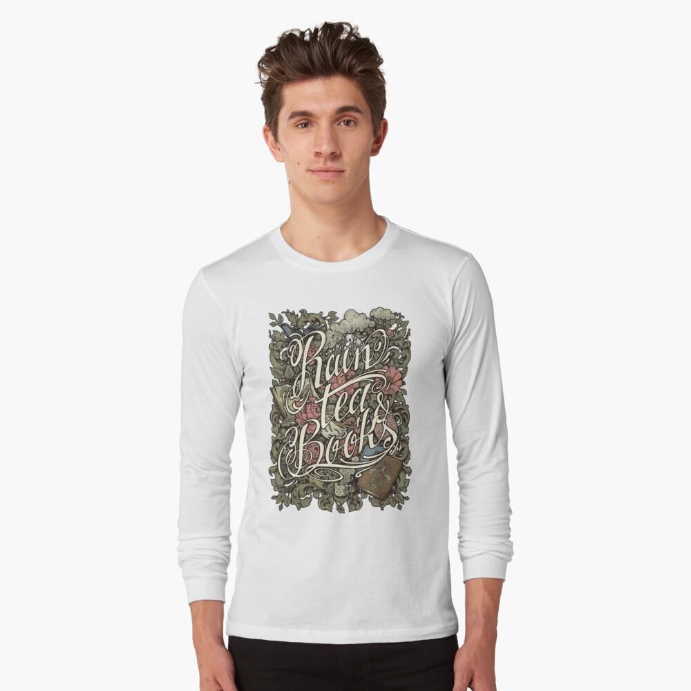 Regen, Tee & Bücher - Farbversion Langarmshirt