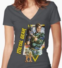 Metal Gear Women's Fitted V-Neck T-Shirt