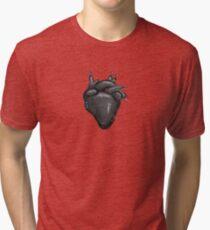 Black Hearted Tri-blend T-Shirt