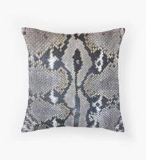Python snake skin texture design Throw Pillow