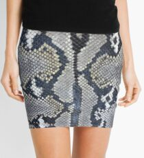 Python snake skin texture design Mini Skirt