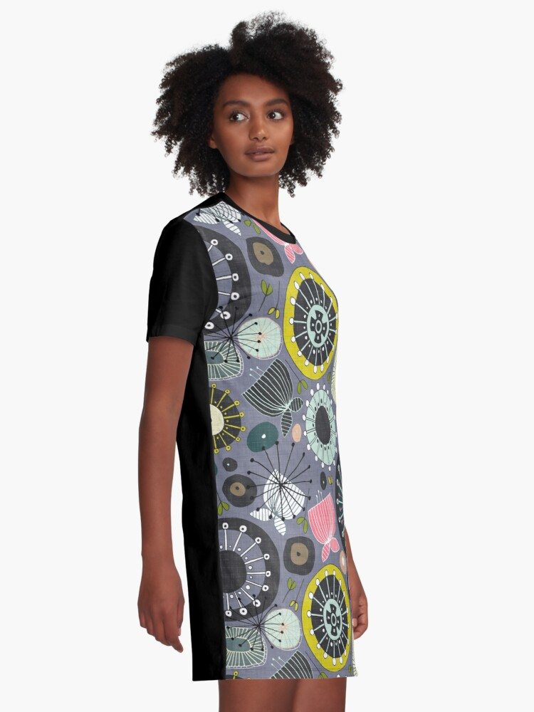Alternate view of blooms amethyst Graphic T-Shirt Dress