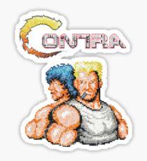 Contra Vintage Heros Pixels Sticker