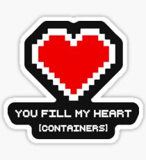 You Fill My Heart (Containers) Sticker