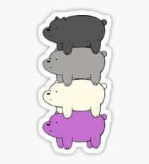 Ace Pride Bears Sticker