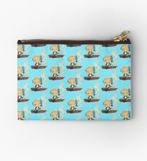riley blue on a wall Studio Pouch