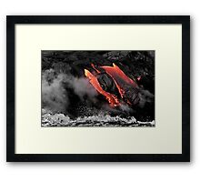 Lava Flow at Kalapana 6 Framed Print