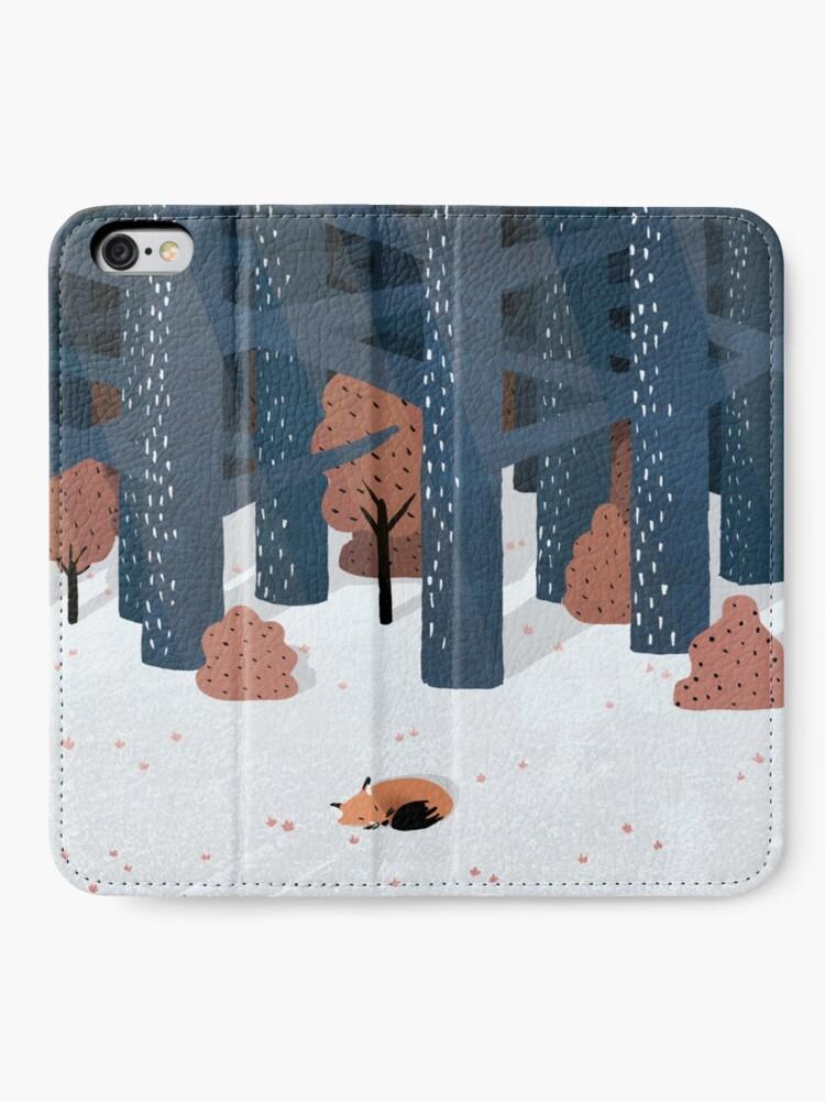 Alternative Ansicht von Schlafen im Wald iPhone Flip-Case