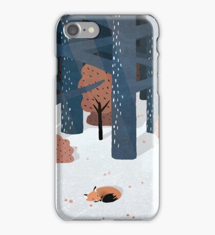 Asleep in the Woods iPhone Case/Skin