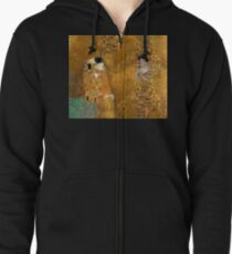 Klimt -  Woman in Gold - The Kiss Zipped Hoodie
