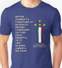 Italy 2006 World Cup Final Winners T-Shirt