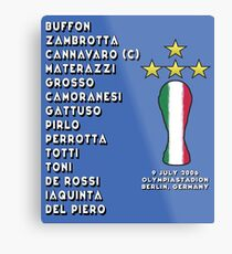 Italy 2006 World Cup Final Winners Metal Print