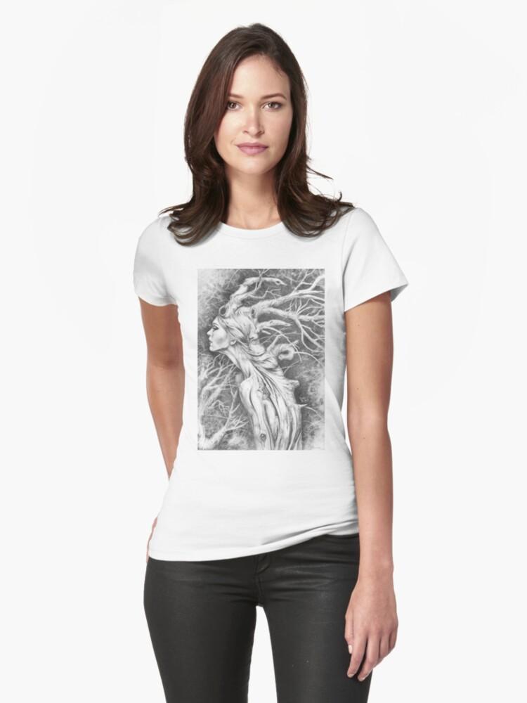 Tree Woman Womens T-Shirt Front
