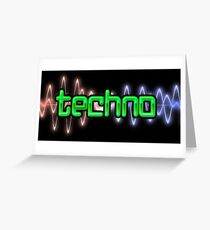 Techno Wave Greeting Card