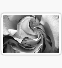 The Heart of a Rose, Black & White Sticker