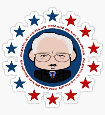 Backed by Populist Demand: Bernie'bot 2.0 Sticker