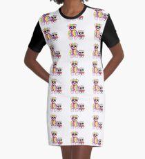 Rainbow Bear Graphic T-Shirt Dress
