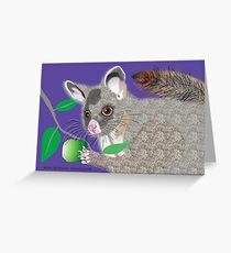 Brush Tailed Possum Greeting Card