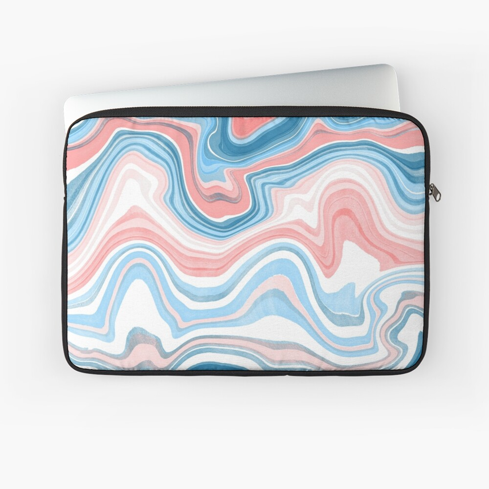 Red/Blue Marble Laptop Sleeve