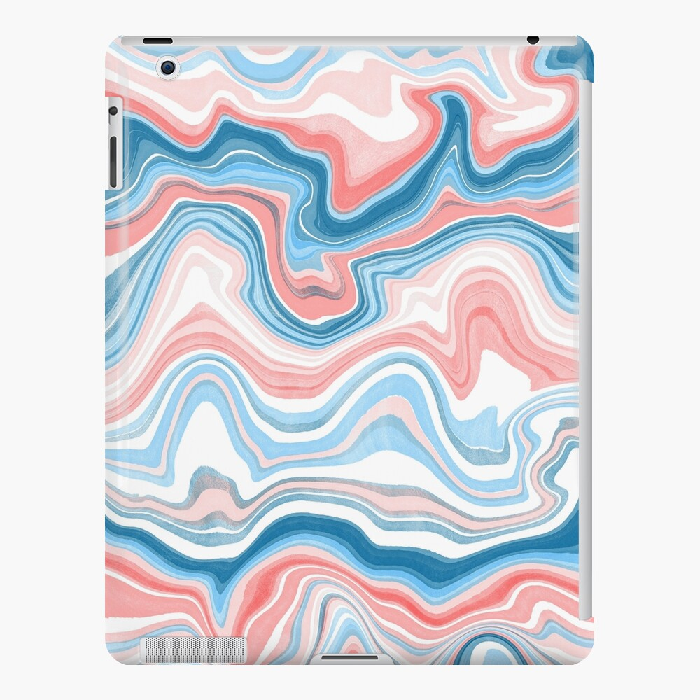 Red/Blue Marble iPad Case & Skin