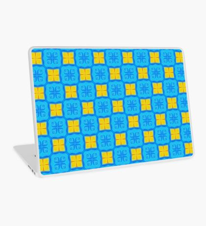 Yellow Blue DeepDream Pattern Laptop Skin