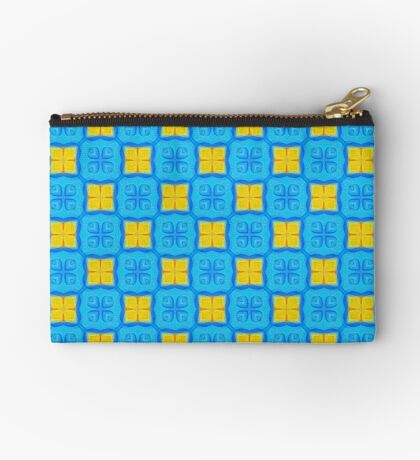 Yellow Blue DeepDream Pattern Studio Pouch
