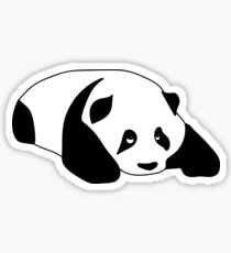 Sleepy Panda Sticker