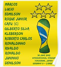 Brazil 2002 World Cup Final Winners Poster