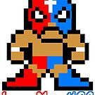 8 Bit LuchaMaskUSA Luchadore by luchamaskusa