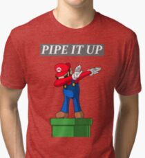 Mario Pipe It Up (dab) Tri-blend T-Shirt