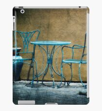 Table & Chairs in Blue iPad Case/Skin