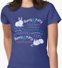 Bunny & Kitty Women's Fitted T-Shirt